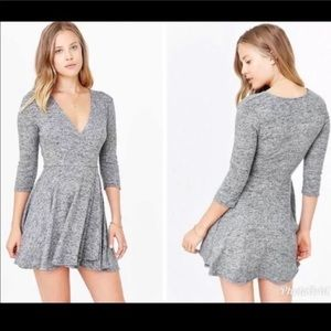 Urban Outfitters Sweater Skater Wrap Dress Size S